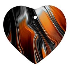 Fractal Structure Mathematics Ornament (heart)