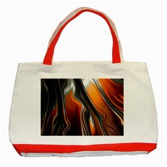 Fractal Structure Mathematics Classic Tote Bag (red)