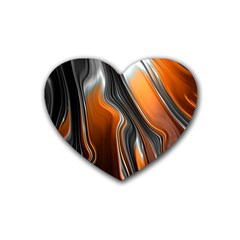 Fractal Structure Mathematics Heart Coaster (4 Pack)