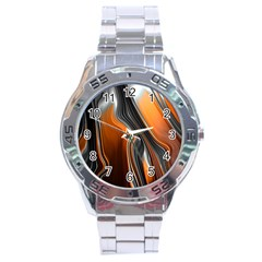 Fractal Structure Mathematics Stainless Steel Analogue Watch