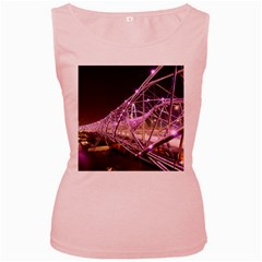 Helixbridge Bridge Lights Night Women s Pink Tank Top