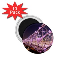 Helixbridge Bridge Lights Night 1 75  Magnets (10 Pack)