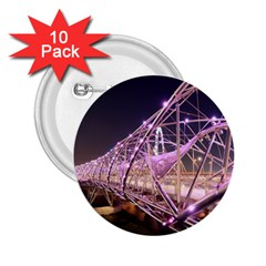 Helixbridge Bridge Lights Night 2 25  Buttons (10 Pack)