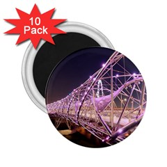 Helixbridge Bridge Lights Night 2 25  Magnets (10 Pack)