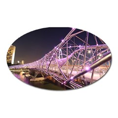 Helixbridge Bridge Lights Night Oval Magnet