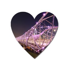 Helixbridge Bridge Lights Night Heart Magnet