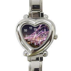 Helixbridge Bridge Lights Night Heart Italian Charm Watch