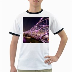 Helixbridge Bridge Lights Night Ringer T Shirts