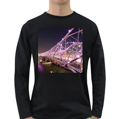 Helixbridge Bridge Lights Night Long Sleeve Dark T Shirts