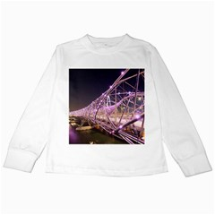 Helixbridge Bridge Lights Night Kids Long Sleeve T Shirts