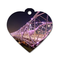 Helixbridge Bridge Lights Night Dog Tag Heart (one Side)