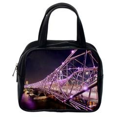 Helixbridge Bridge Lights Night Classic Handbags (one Side)