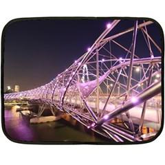Helixbridge Bridge Lights Night Fleece Blanket (mini)