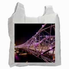 Helixbridge Bridge Lights Night Recycle Bag (two Side)
