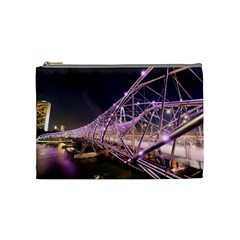 Helixbridge Bridge Lights Night Cosmetic Bag (medium)
