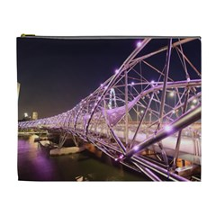 Helixbridge Bridge Lights Night Cosmetic Bag (xl)