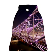 Helixbridge Bridge Lights Night Bell Ornament (2 Sides)