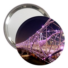 Helixbridge Bridge Lights Night 3  Handbag Mirrors