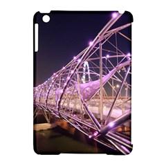 Helixbridge Bridge Lights Night Apple Ipad Mini Hardshell Case (compatible With Smart Cover)