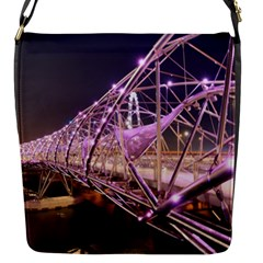 Helixbridge Bridge Lights Night Flap Messenger Bag (s)