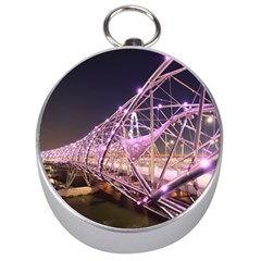 Helixbridge Bridge Lights Night Silver Compasses