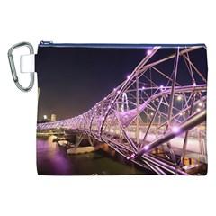 Helixbridge Bridge Lights Night Canvas Cosmetic Bag (xxl)