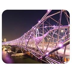 Helixbridge Bridge Lights Night Double Sided Flano Blanket (medium)