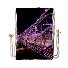 Helixbridge Bridge Lights Night Drawstring Bag (small)