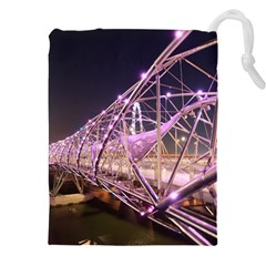 Helixbridge Bridge Lights Night Drawstring Pouches (xxl)