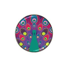 Peacock Bird Animal Feathers Hat Clip Ball Marker
