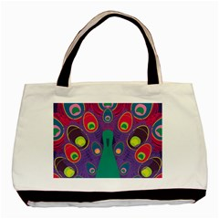 Peacock Bird Animal Feathers Basic Tote Bag (two Sides)