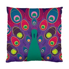Peacock Bird Animal Feathers Standard Cushion Case (one Side)