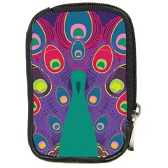 Peacock Bird Animal Feathers Compact Camera Cases