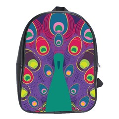 Peacock Bird Animal Feathers School Bags(large)