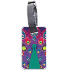 Peacock Bird Animal Feathers Luggage Tags (one Side)