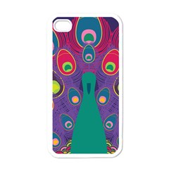 Peacock Bird Animal Feathers Apple Iphone 4 Case (white)
