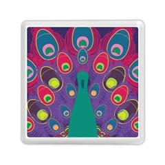Peacock Bird Animal Feathers Memory Card Reader (square)