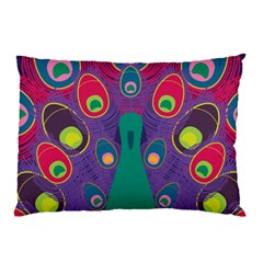 Peacock Bird Animal Feathers Pillow Case (two Sides)