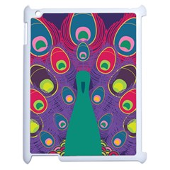 Peacock Bird Animal Feathers Apple Ipad 2 Case (white)