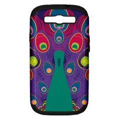 Peacock Bird Animal Feathers Samsung Galaxy S Iii Hardshell Case (pc+silicone)