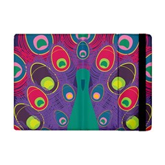 Peacock Bird Animal Feathers Apple Ipad Mini Flip Case