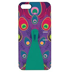 Peacock Bird Animal Feathers Apple Iphone 5 Hardshell Case With Stand