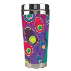 Peacock Bird Animal Feathers Stainless Steel Travel Tumblers