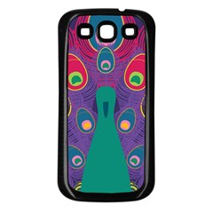 Peacock Bird Animal Feathers Samsung Galaxy S3 Back Case (black)