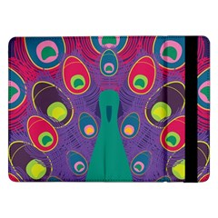 Peacock Bird Animal Feathers Samsung Galaxy Tab Pro 12 2  Flip Case