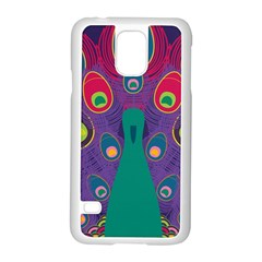 Peacock Bird Animal Feathers Samsung Galaxy S5 Case (white)