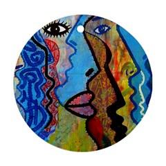 Graffiti Wall Color Artistic Ornament (round)