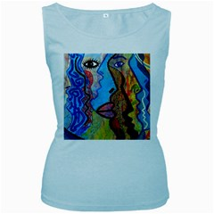 Graffiti Wall Color Artistic Women s Baby Blue Tank Top
