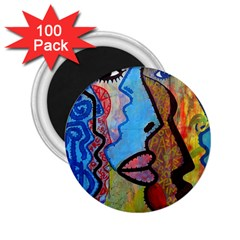 Graffiti Wall Color Artistic 2.25  Magnets (100 pack)