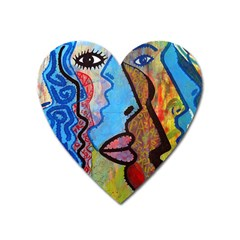 Graffiti Wall Color Artistic Heart Magnet